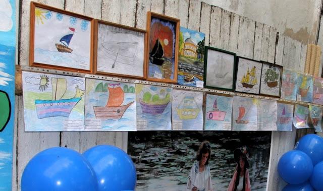лодки - детские рисунки