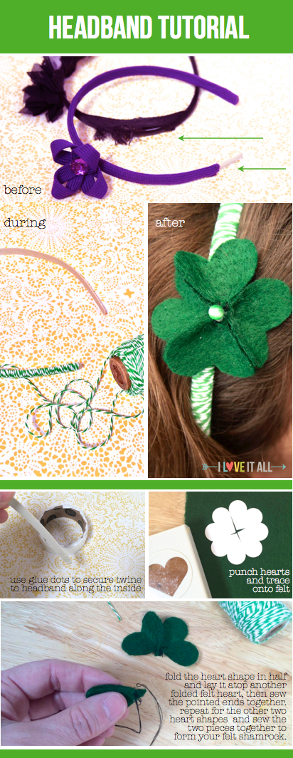 #tutorial #diy #shamrock #felt #headband