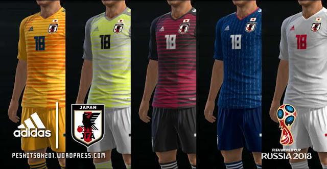 Japan 2018 World Cup Kits PES 2013