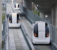 Ultra pods on guideways