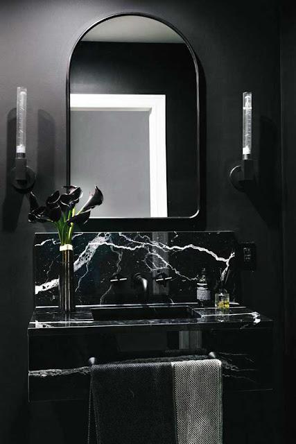 siyah banyo modelleri