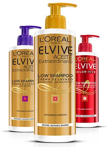 champú de L'Oréal Low Shampoo para cabellos sensibilizados nuevo