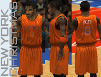NBA 2K13 Knicks Orange Christmas Winter Court Jersey Patch