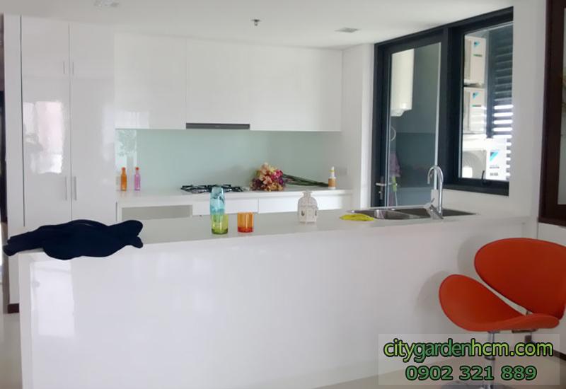không gian bếp tại căn hộ City Garden cho thuê