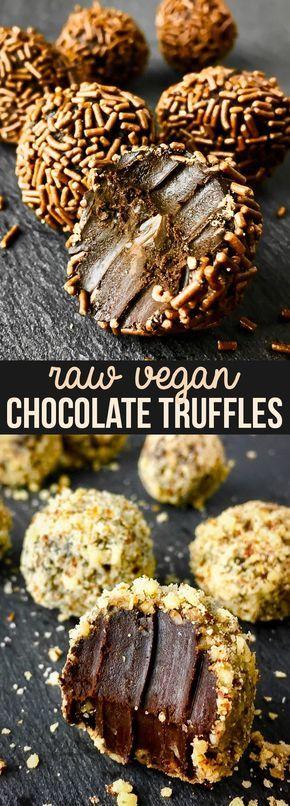 Delicious Raw Vegan Chocolate Truffles