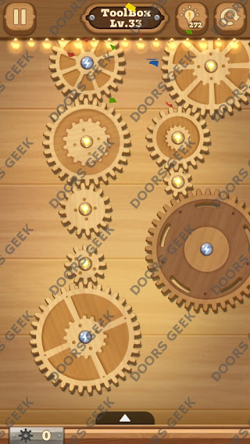 Fix it: Gear Puzzle [ToolBox] Level 33 Solution, Cheats, Walkthrough for Android, iPhone, iPad and iPod