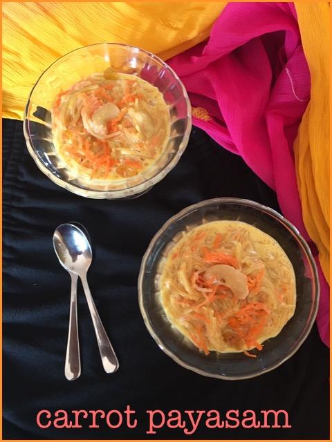 Carrot Payasam ~~ Carrot Kheer