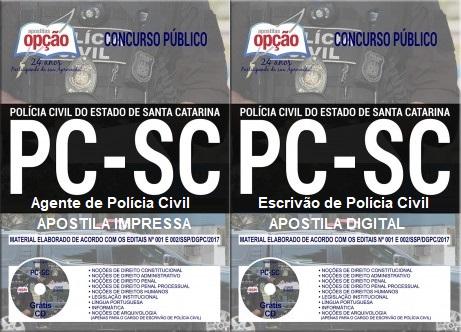 Apostila concurso PC-SC agende de Polícia Civil de Santa Catarina