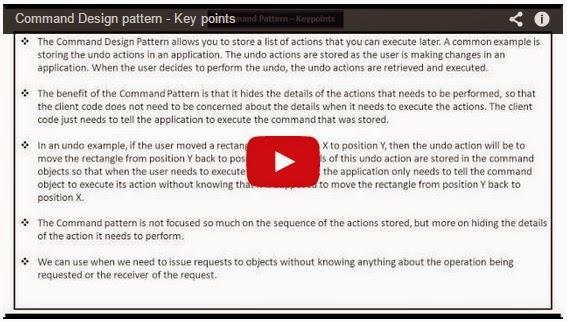 JAVA EE: Command Design pattern - Key points