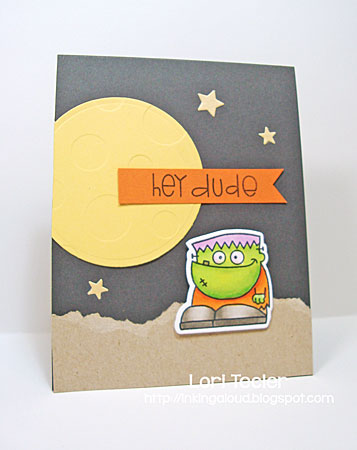 Hey Dude card-designed by Lori Tecler/Inking Aloud-stamps and dies from Paper Smooches