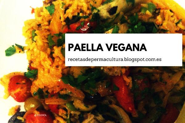 Receta de Paella Vegana, Comida Sana fácil de hacer