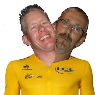 Roelof en Sietse samen in het geel