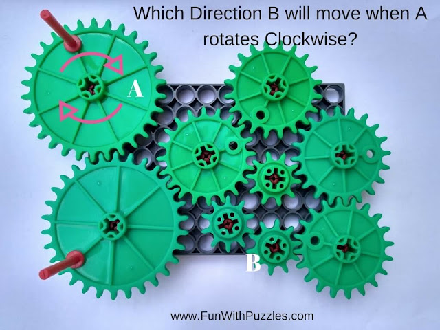 Rotating Wheel Observation Puzzle