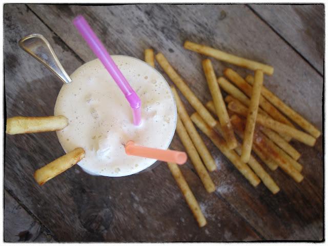 Milkshake with fries  pic: Kerstin Rodgers/msmarmitelover.com