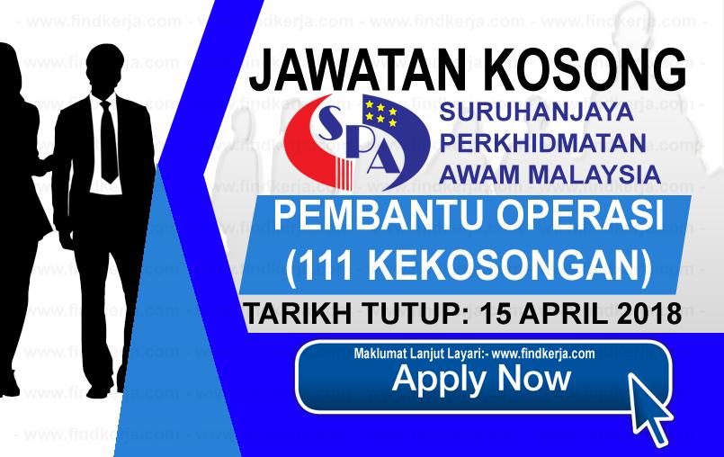 Jawatan Kerja Kosong SPA - Suruhanjaya Perkhidmatan Awam Malaysia logo www.findkerja.com april 2018