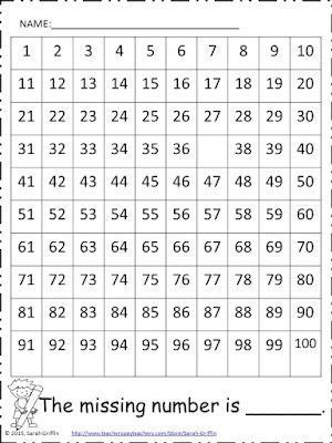 https://www.teacherspayteachers.com/Product/Counting-to-100-100s-Chart-number-awareness-assessment-Class-Goal-527600