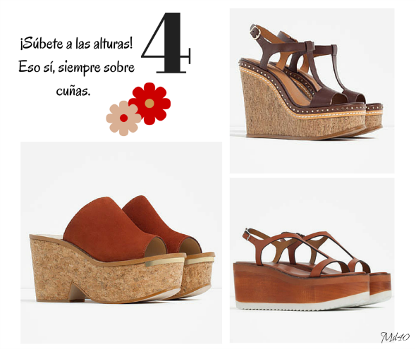 zapatos y sandalias primavera verano 2016 cuñas