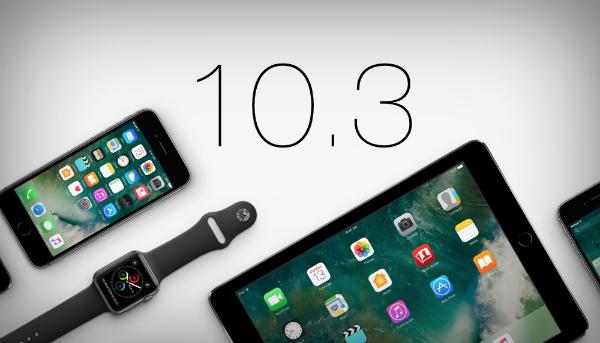 آبل تطلق التحديث النهائي الجديد iOS 10.3