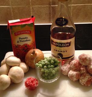 Albóndigas con verduras, ingredientes
