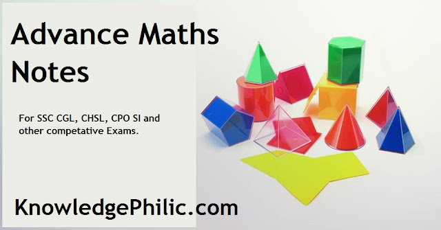 Advance Maths Notes [Download Free] for SSC CGL, CHSL, CPO SI
