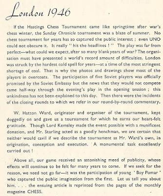 Introducción al libro del Torneo de Ajedrez de Londres 1946