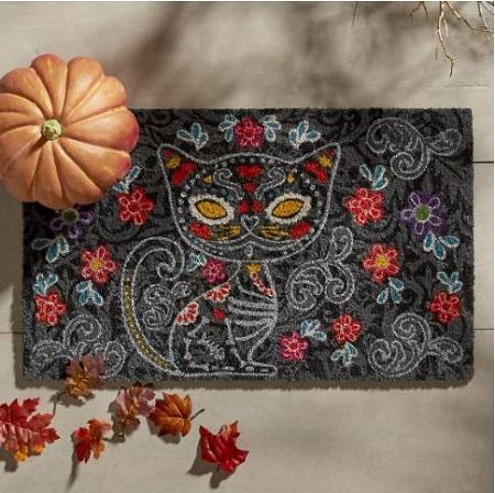 halloween sugar kitty doormat - Pier One Halloween