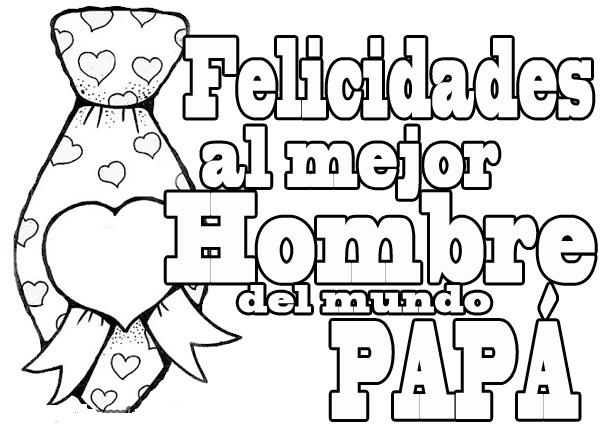 Tarjetas De Cumpleaños Para Papa Para Colorear Imagui