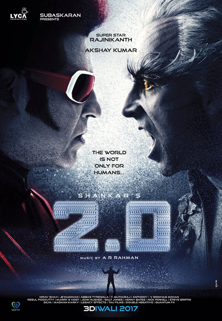 Superstar Rajinikanth's 2.0 first look launch Poster with Akshay kumar