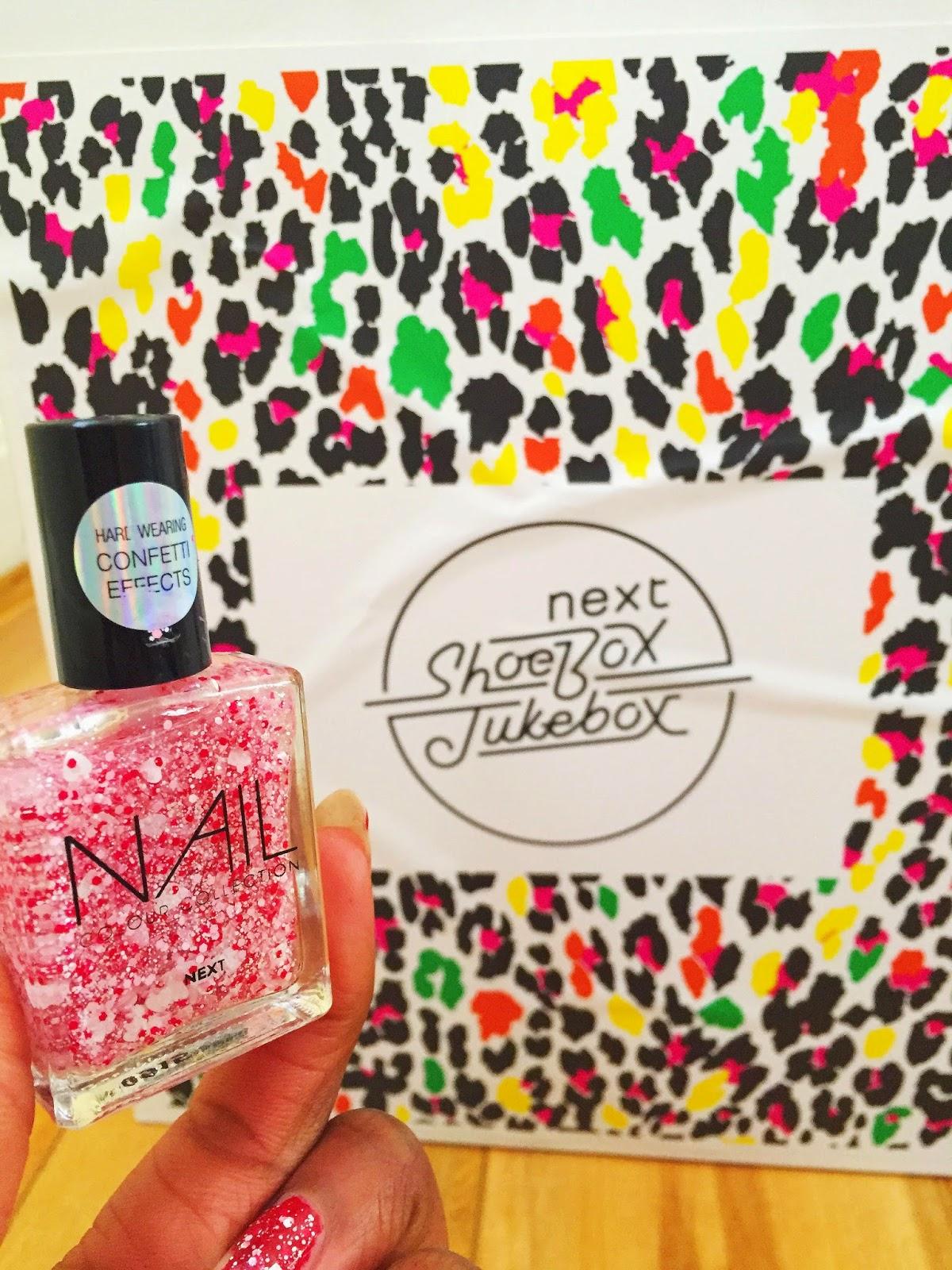 Confetti nail polish