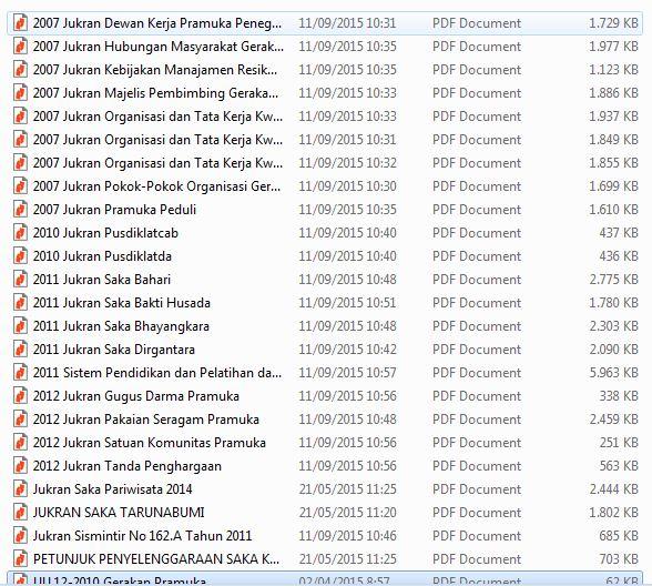 Download Dokumen - dokumen Penting Pedoman Gerakan Pramuka Sekolah