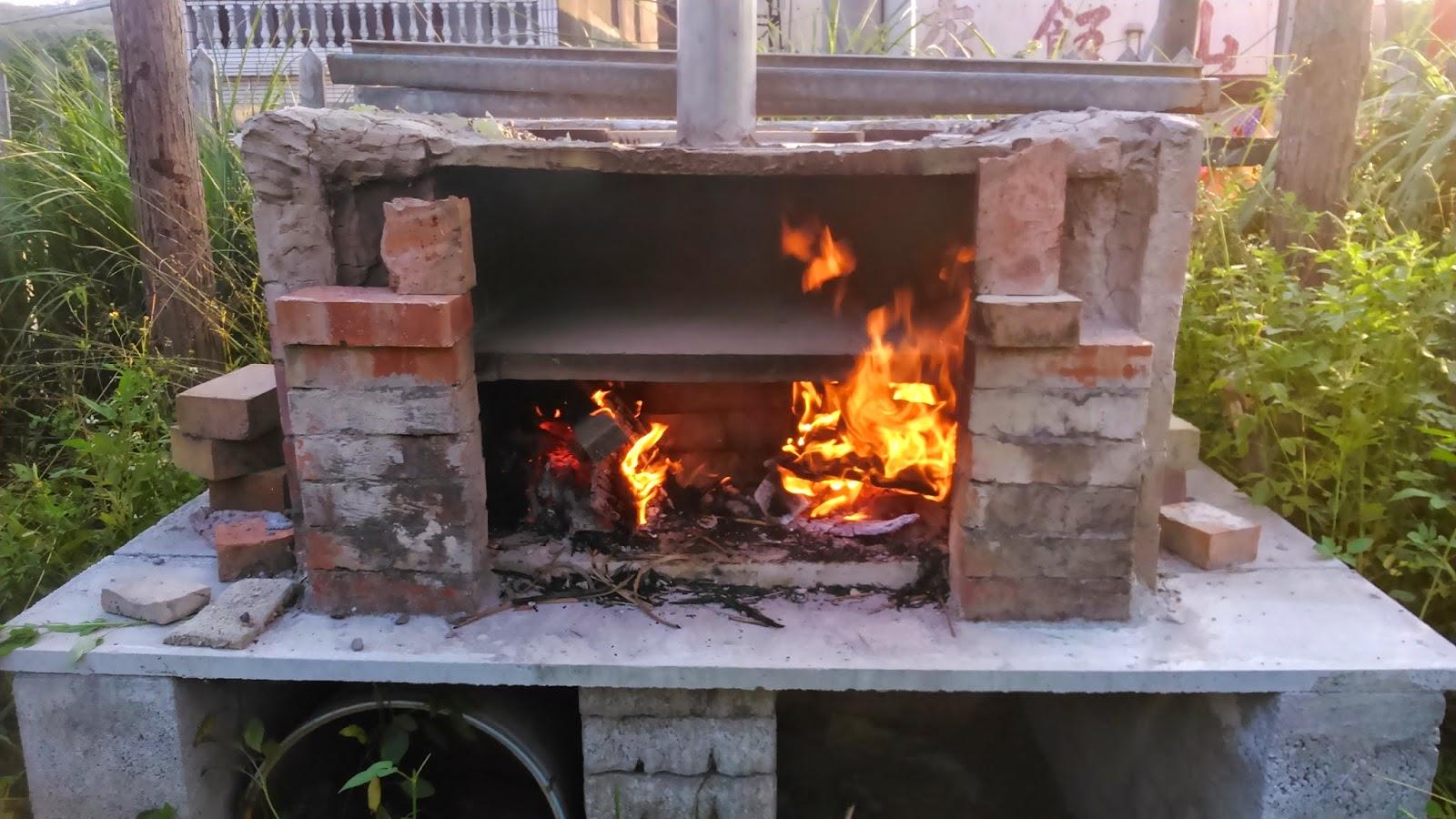 阿鳥大小事: 自製柴火窯烤爐