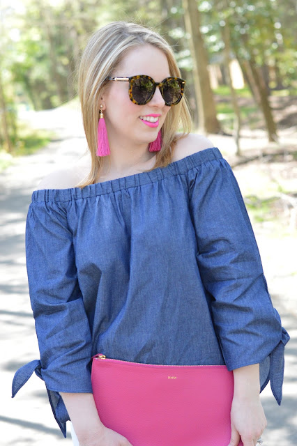 chambray-off-the-shoulder-top
