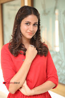 Actress Lavanya Tripathi Latest Pos in Red Dress at Radha Movie Success Meet .COM 0115.JPG