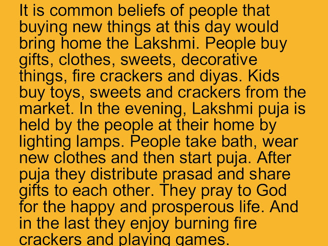 short essay on diwali in english Diwali is one the most important festival of hindus it is celebrated with great enthusiasm throughout the length and breadth of india it is a.