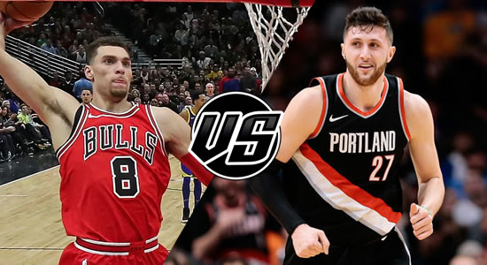 Live Streaming List: Chicago Bulls vs Portland Trail Blazers 2018-2019 NBA Season
