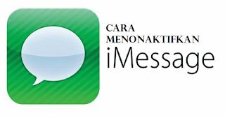 Cara menonaktifkan iMessage dan menonaktifkan temporarily di iPhone atau iPad