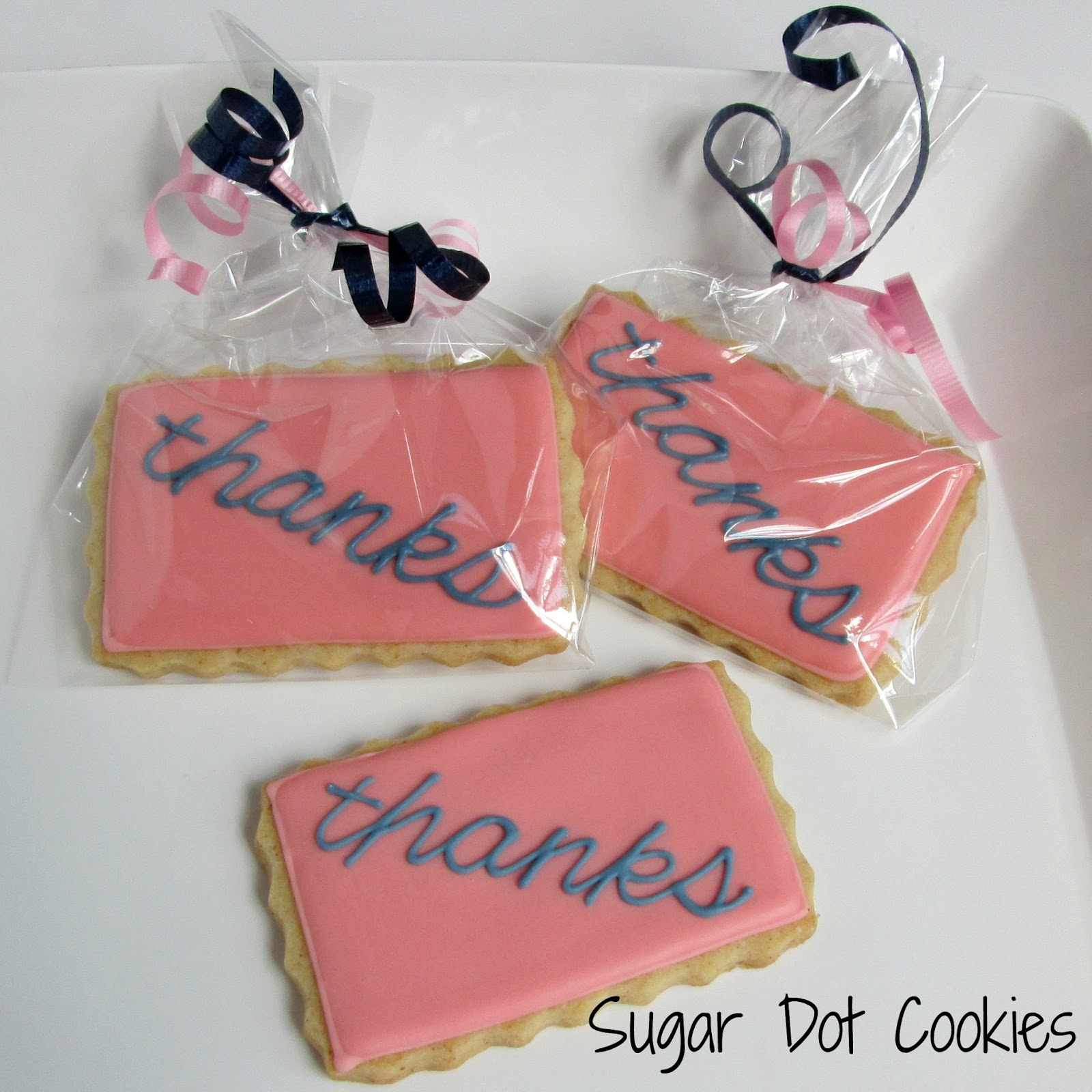 Sugar Dot Cookies: Thank You Sugar Cookies with Royal Icing