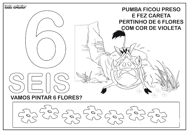 Numerais Ilustrados Pumba