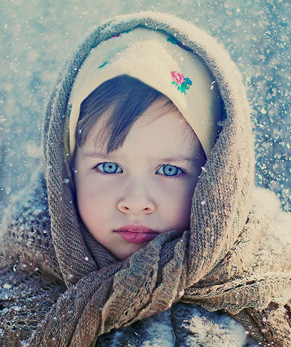 Cute Baby in Winter 2016