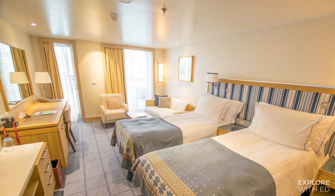 Penthouse Veranda Cabin onboard the Viking Sea cruise ship