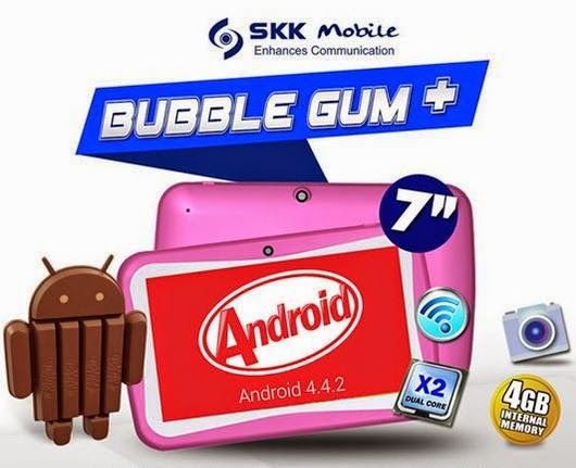 SKK Mobile Bubble Gum Plus, 7-inch Android KitKat Tablet For Php2,399