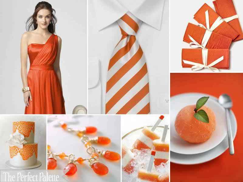 {Tangerine Tango}: A Palette of Orange + White | The ... Tangerine Tango Wedding