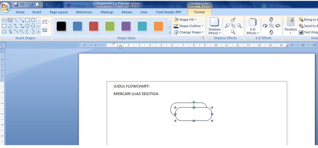 Membuat simbol flowchart dengan MS Word
