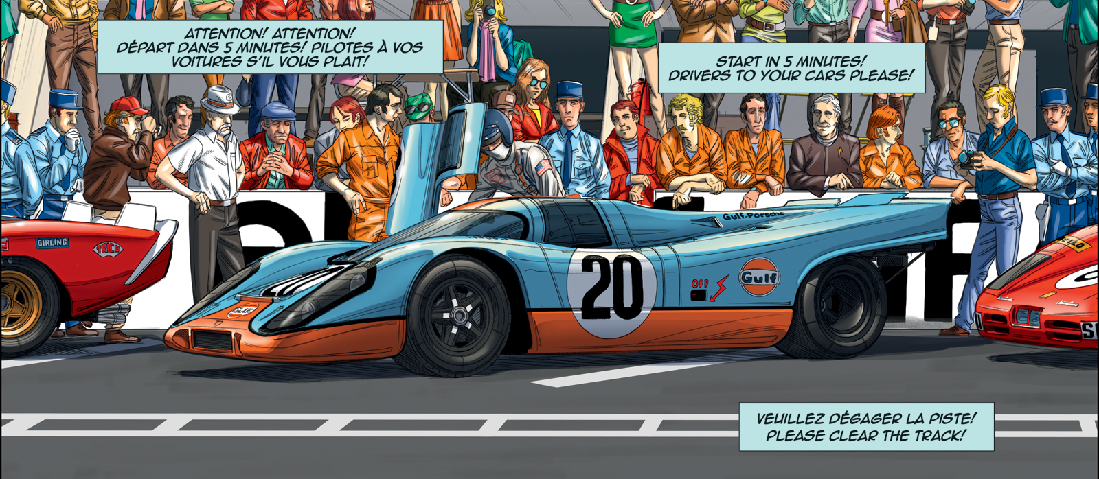 steve mcqueen returns to le mans in graphic novel form carscoops. Black Bedroom Furniture Sets. Home Design Ideas