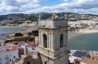 Vistas desde la terraza del Castillo de Peñíscola.