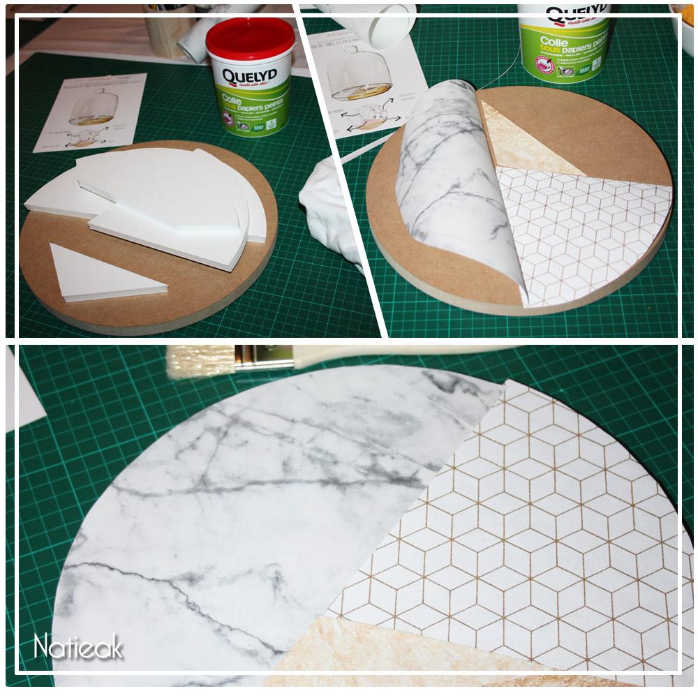 création avec papier peint