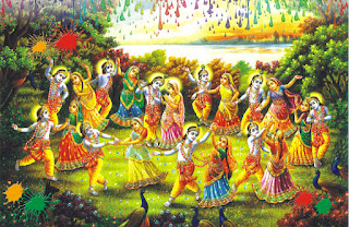 Radhe krishna god celebrate holi