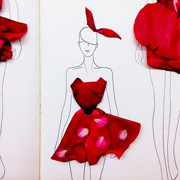 Fashion Designs from flower petals grace ciao