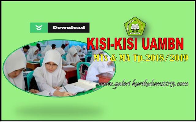 Unduh Kisi-Kisi UAMBN Madrasah Aliyah Tahun Pelajaran 2018/2019