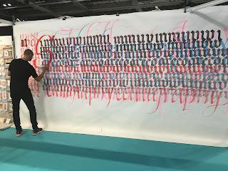Paul Antonio large calligraphy at CHSI